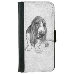 iPhone 6 Wallet Case with Basset Hound Phone Cases design