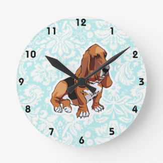 Basset Hound; Lindo Reloj Redondo Mediano