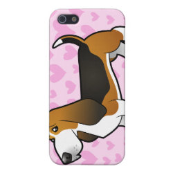 Basset Hound Love (add your pern!) Cover For iPhone SE/5/5s
