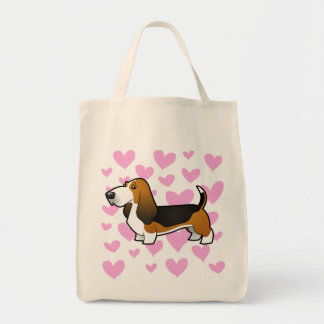 Basset Hound Love Grocery Tote Bag