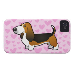 Basset Hound Love iPhone 4 Cover