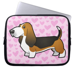Neoprene Laptop Sleeve 10 inch with Basset Hound Phone Cases design