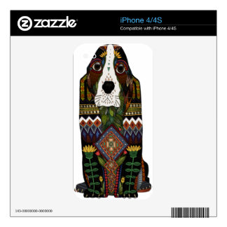 Basset Hound love Decals For The iPhone 4S