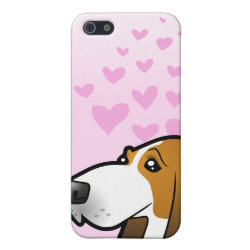 Case Savvy iPhone 5 Matte Finish Case with Basset Hound Phone Cases design