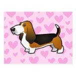 Basset Hound Love Post Card