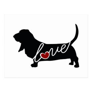 Basset Hound Love Postcard