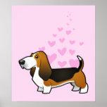 Basset Hound Love Print