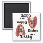 Basset Hound Lovers Dishwasher Magnet