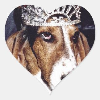 Basset Hound Lover's Paradise Heart Sticker