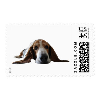Basset Hound lying down Stamps