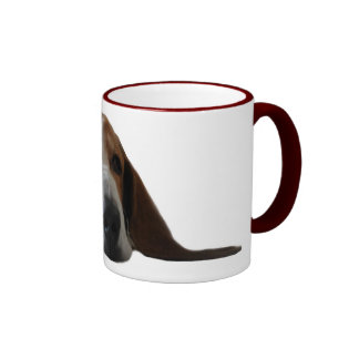 Basset Hound lying down Ringer Mug