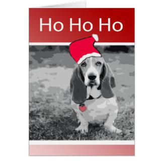 Basset Hound Merry Christmas Card