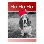 Basset Hound Merry Christmas Greeting Card