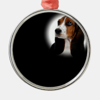 Basset Hound Metal Ornament