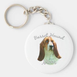 Basset Hound Mom 2 Key Chain