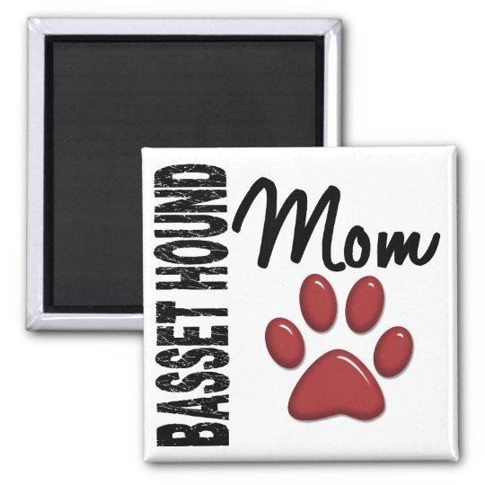 Basset Hound Mom 2 Magnet