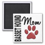 Basset Hound Mom 2 Magnets