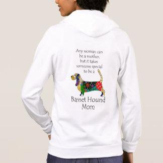 Basset Hound Mom Hoodie