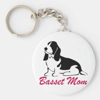 Basset Hound Mom Key Chains