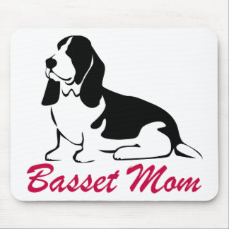Basset Hound Mom Mouse Pad