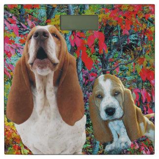 Basset Hound Mom & Puppy Bathroom Scale