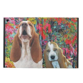 Basset Hound Mom & Puppy in Autumn iPad Air Case