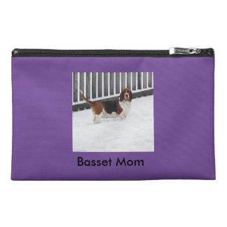 Basset Hound Mom Travel Accessory Bag Travel Accessory Bag