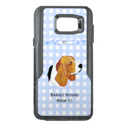 OtterBox Commuter Samsung Note 5 Case with Basset Hound Phone Cases design