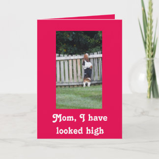 Basset Hound Mother's Day card