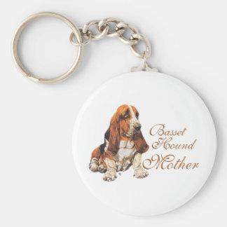 Basset Hound Mother's Day Keychain