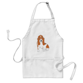 Basset Hound multiple Products Adult Apron