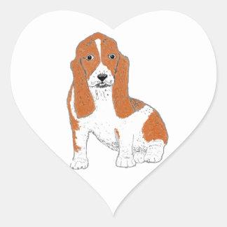 Basset Hound multiple Products Heart Sticker