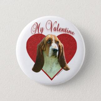 Basset Hound My Valentine - Button