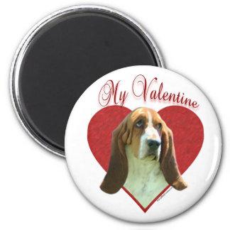 Basset Hound My Valentine - Magnet