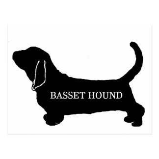 Basset Hound name silhouette Postcard
