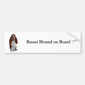 Basset Hound on board custom bumper sticker