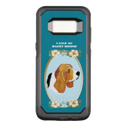 OtterBox Commuter Samsung Galaxy S8 Case with Basset Hound Phone Cases design