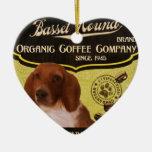 Basset Hound - Organic Coffee Company Adorno