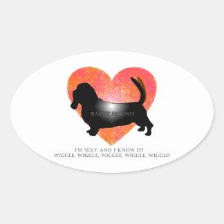 Basset Hound Oval Sticker