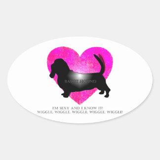 Basset Hound! Oval Sticker