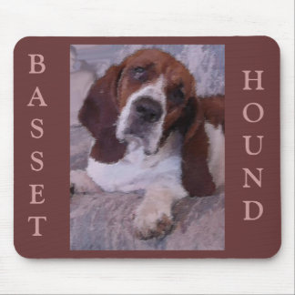 Basset Hound Painting Mouse Pad