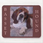 Basset Hound Painting Mouse Pads