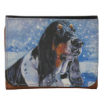 Basset Hound painting on wallet