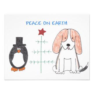 Basset Hound Peace On Earth Invites