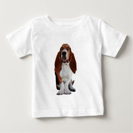 Basset Hound Picture Baby T-Shirt