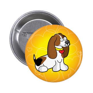 Basset Hound Pinback Button