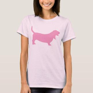 Basset Hound (pink) T-Shirt
