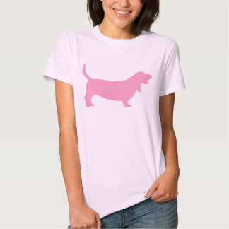 Basset Hound (pink) Tee Shirt