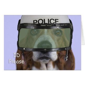 Basset Hound Police Greeting Cards
