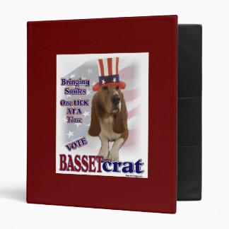 Basset Hound Political Humor Binder